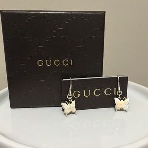 """Gucci Jewelry - """"Butterfly"""" Gucci Sterling Silver Earrings! 💥"""